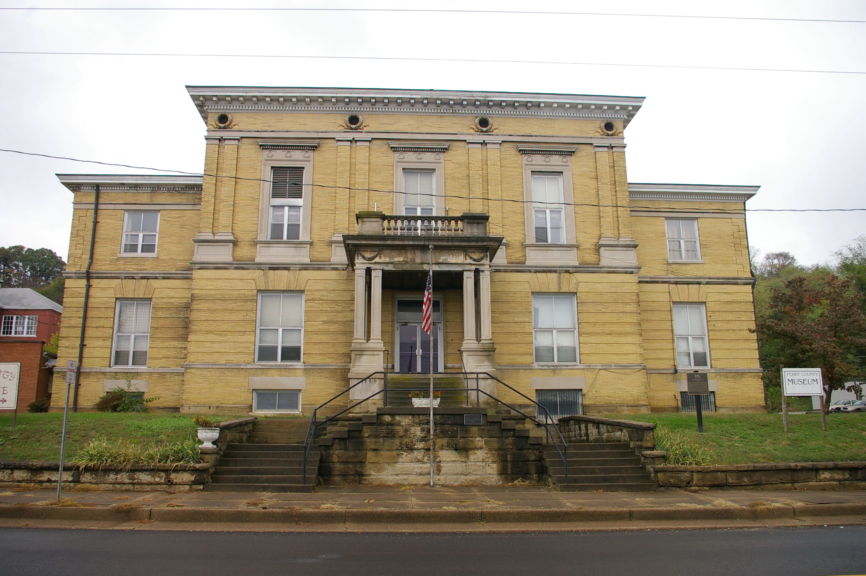 Indiana perry county cannelton - Old County Courthouse Cannelton 0532k07