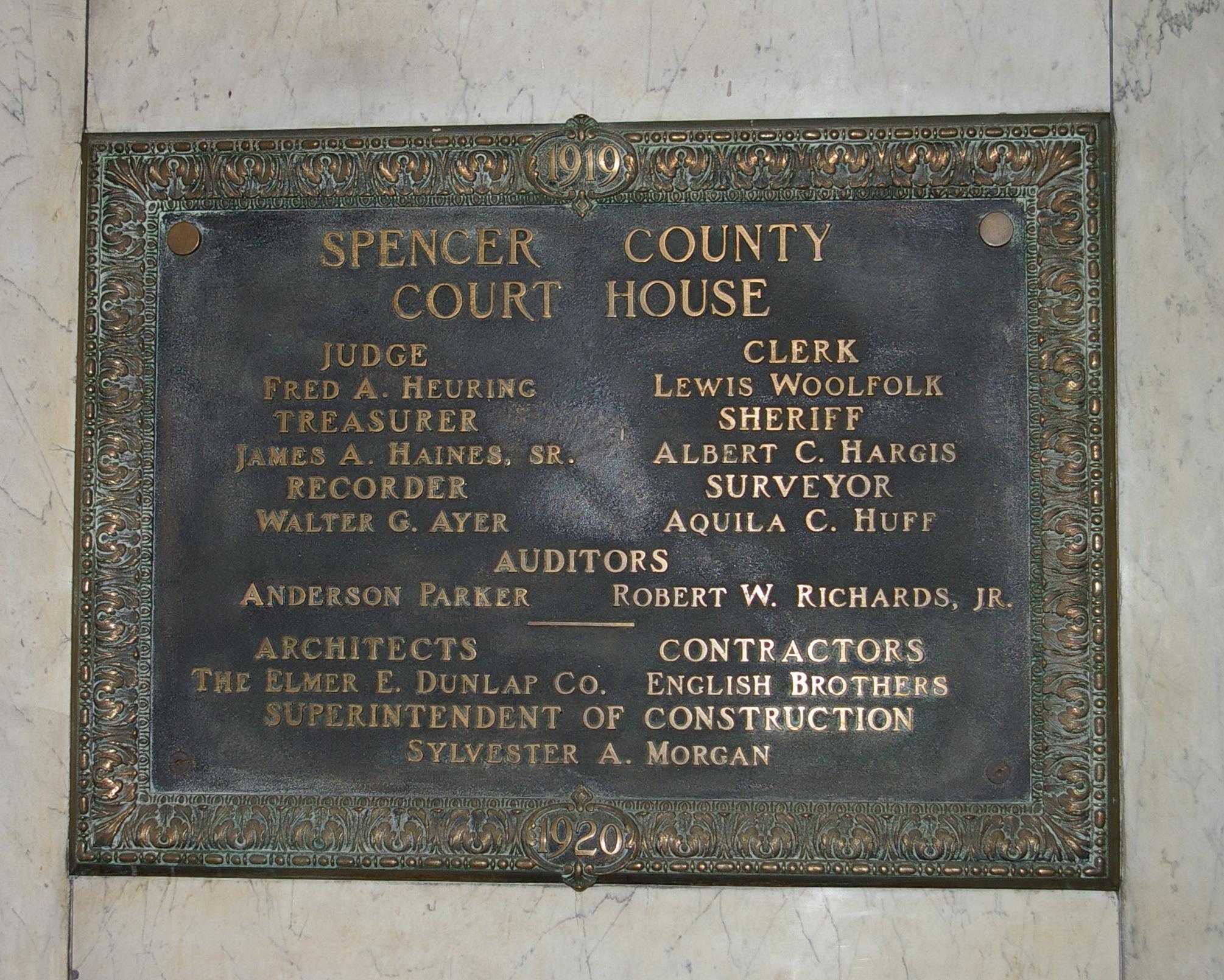 Indiana spencer county rockport - 1484i I08