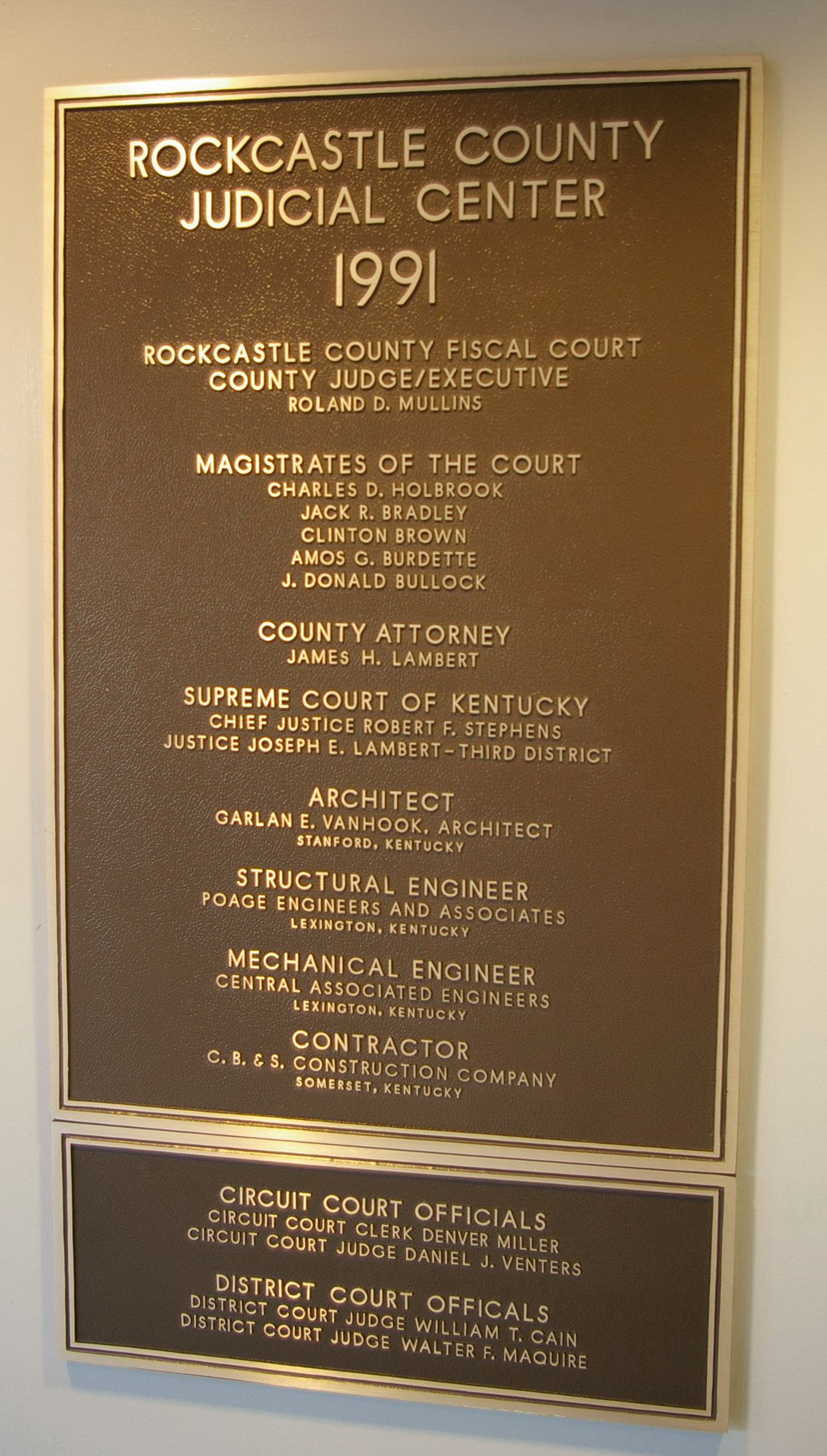 Rockcastle County Us Courthouses