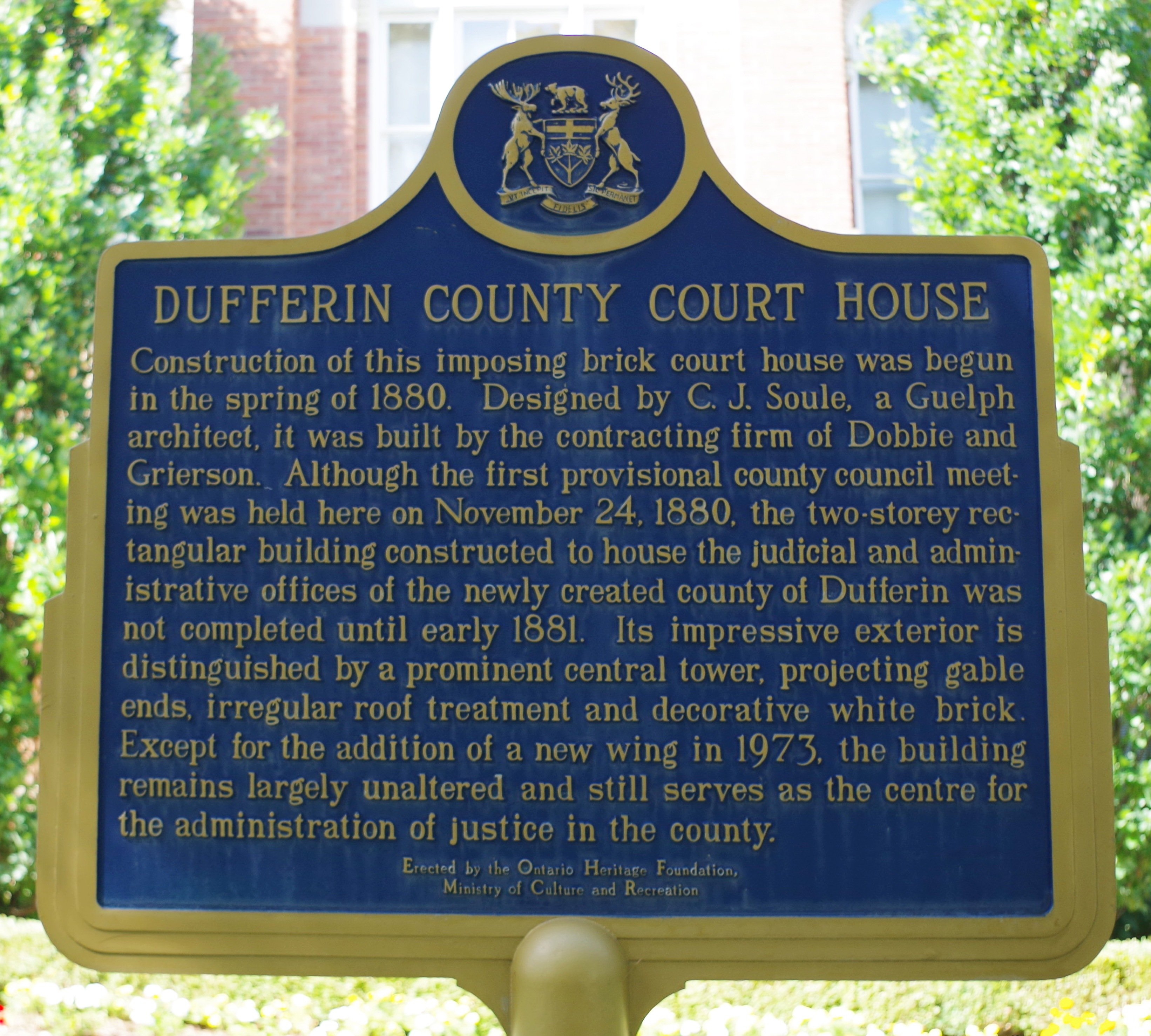 Dufferin County Us Courthouses
